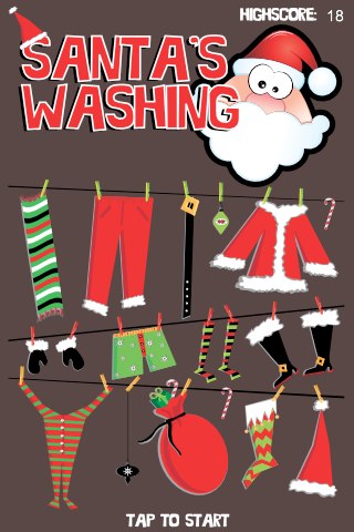 Screenshot Santa's Washing